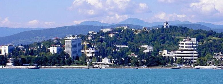 View on Sotshi from black sea.jpg