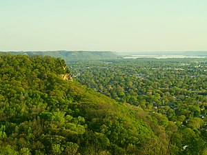 View of the city of La Crosse from Grandad Bluff