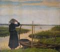 Vilhelm Groth - Aftenstemning ved en sø.png