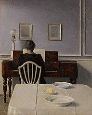 Interior with Woman at Piano, Strandgade 30