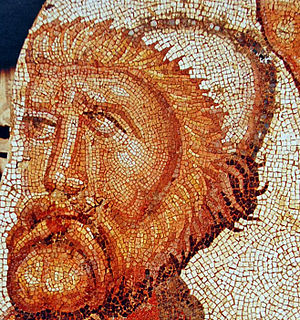 Odyssey - A mosaic depicting Odysseus, from the villa of La Olmeda, Pedrosa de la Vega, Spain, late 4th-5th centuries AD