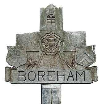 Boreham - Image: Village sign of Boreham, Essex, England
