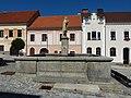 Vimperk Hauptplatz - Brunnen Florian 1.jpg