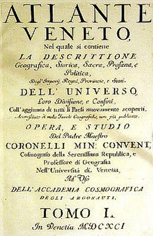 Atlante Veneto - Title page of Atlante Veneto