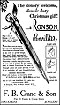 Vintage Advertising For The Ronson Penciliter In The Mount Pleasant Iowa News, December 12, 1950 (35292507290).jpg