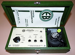 Vintage Eckstein Bros., Inc. Screening Audiometer, Tetra-Tone Model EB-46, Circa 1975 (16733399820).jpg