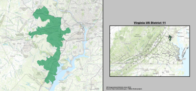 Virginia's 11th Congressional District - since January 3, 2013.