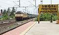 Visakhapatnam - Sainagar Shirdi Weekly Express enters Pithapuram train station 01.jpg