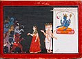 Vishnu create lady to entice Demons and save Brahma from Bhagavata purana series by manaku.jpg
