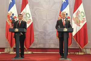 Visita Presidente electo de Per%C3%BA%2C Ollanta Humala a Chile