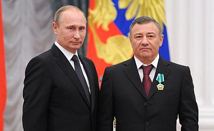 Arkady Rotenberg, a billionaire businessman and co-owner of Stroygazmontazh. He is considered a close confidant of Vladimir Putin.