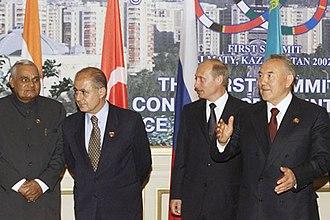 Ahmet Necdet Sezer - Sezer with Vladimir Putin, Atal Bihari Vajpayee and Nursultan Nazarbayev