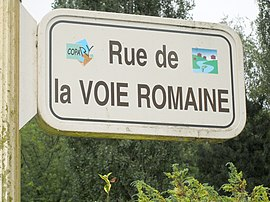 Roman road at the hamlet of Maison du Val