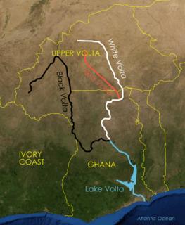 Red Volta river in Burkina Faso