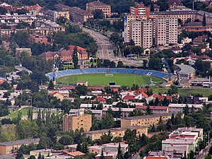 Lokomotíva Stadium - Image: Vyhliadkova veza Kosice 3