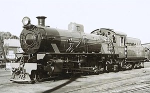WAGR W class - W901 at East Perth Locomotive Depot in 1951