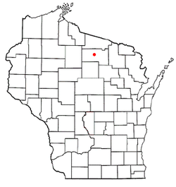 Location of Lake Tomahawk, Wisconsin