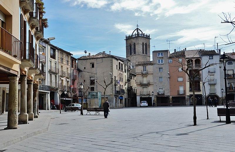 File:WLM14ES - Nucli de Santa Coloma de Queralt, Plaça Major i Voltants, Conca de Barberà - MARIA ROSA FERRE.jpg