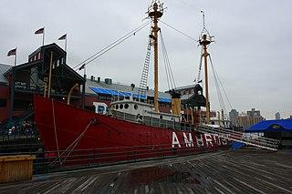 United States lightship <i>Ambrose</i> (LV-87) United States national historic site
