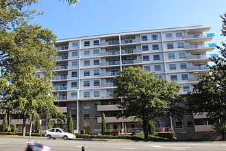 Braddon, Australian Capital Territory - Modern flats in Wakefield Avenue on the northern edge of Braddon