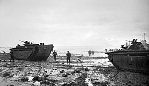 LVT Buffalo amphibians during the invasion of Walcheren island