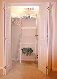 Wall closet in a residential house in the U.S.