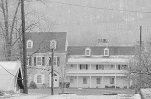 Big Runaway - The stone Wallis House (seen here in 1984) was one of only two structures to survive the attacks, and is now the oldest building in Lycoming County