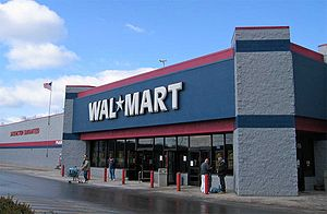 Discount store - A typical Walmart discount store