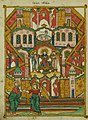 Walters Ms. W917 - Apocalypse by Andrew of Caesarea f.206v New Jerusalem as bride of the lamb.jpg