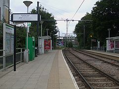 Wandle Park tramstop look west.JPG