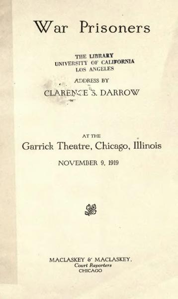 File:War Prisoners (Darrow).djvu