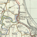 Warkworth 1945 OS map.png