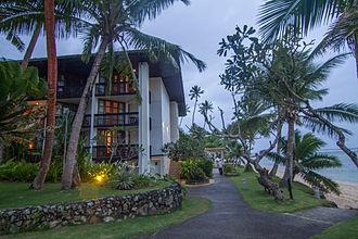 Warwick Hotels and Resorts - Image: Warwick Fiji Resort & Spa Hotel grounds