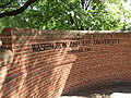 Washington and Lee University brick sign Lexington Virginia.JPG