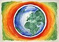 Watercolor painting of the earth with hot gradient.jpg