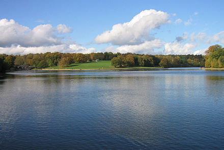 Waterloo Lake in Roundhay Park, one of the largest urban parks in Europe Waterloo Lake Roundhay 07.jpg