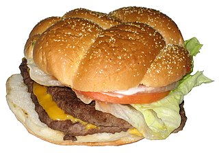 Bacon Deluxe Hamburger sold by Wendys