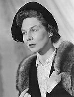 Black-and-white photo of Wendy Hiller.