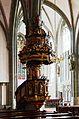 Werl, denkmalgeschützte Propsteikirche, die Kanzel von Johann Sasse, 1668.JPG