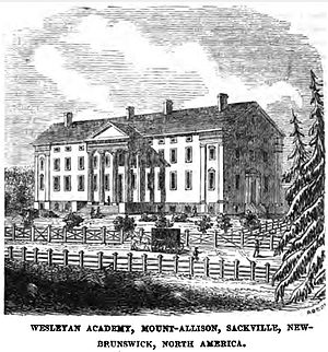 Sackville, New Brunswick - Image: Wesleyan Academy, Mount Allison, Sackville, New Brunswick, North America (October 1852, p.120, IX) Copy