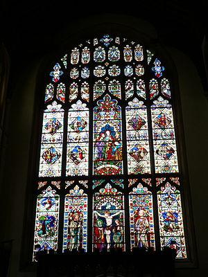 St Mary's Church, Bury St Edmunds - The west window of the church