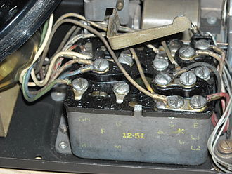 Model 500 telephone - Close up of the 425A network on a 1951 model 500
