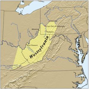 Westsylvania - Image: Westsylvaniamap