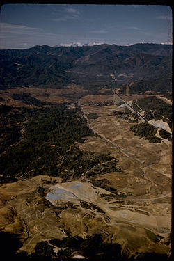 Aerial view of the Whiskeytown National Recreation Area.