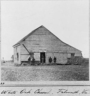 White Oak Church - White Oak Church around 1861