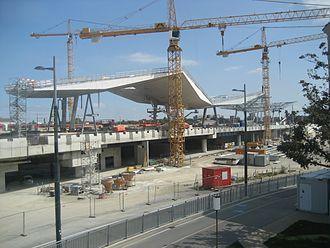 Wien Hauptbahnhof - Image: Wien Hauptbahnhof Bau 01