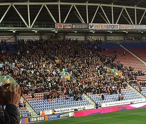 Huddersfield Giants - Huddersfield supporters at Wigan