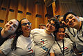 Wikimedia Mexico team at opening ceremony of Wikimania 2014.jpg