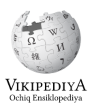 Uzbek Wikipedia - Image: Wikipedia logo v 2 uz