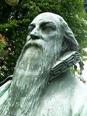 Wilhelm Fabry - Fabry's bronze bust in Hilden (market place)